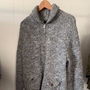 J Crew Shawl Neck Zip Sweater